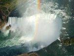 Horseshoe Falls with a rainbow
